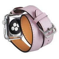 V Moro Newest Fashion Extra Long For Apple Watch 38mm Strap Band Genuine Leather Double Tour