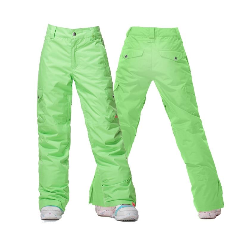 GSOU SNOW Brand Women Ski Pants Waterproof Skiing Pants Female Snowboard Trousers Winter Outdoor Breathable Warm Sport Clothing