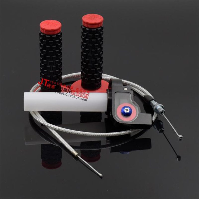 Aluminum Throttle Grip Quick Twist Gas Throttle Settle With Throttle Cable Fit KAYO Apollo Bosuer Dirt Pit Bike Visual Grips Bar