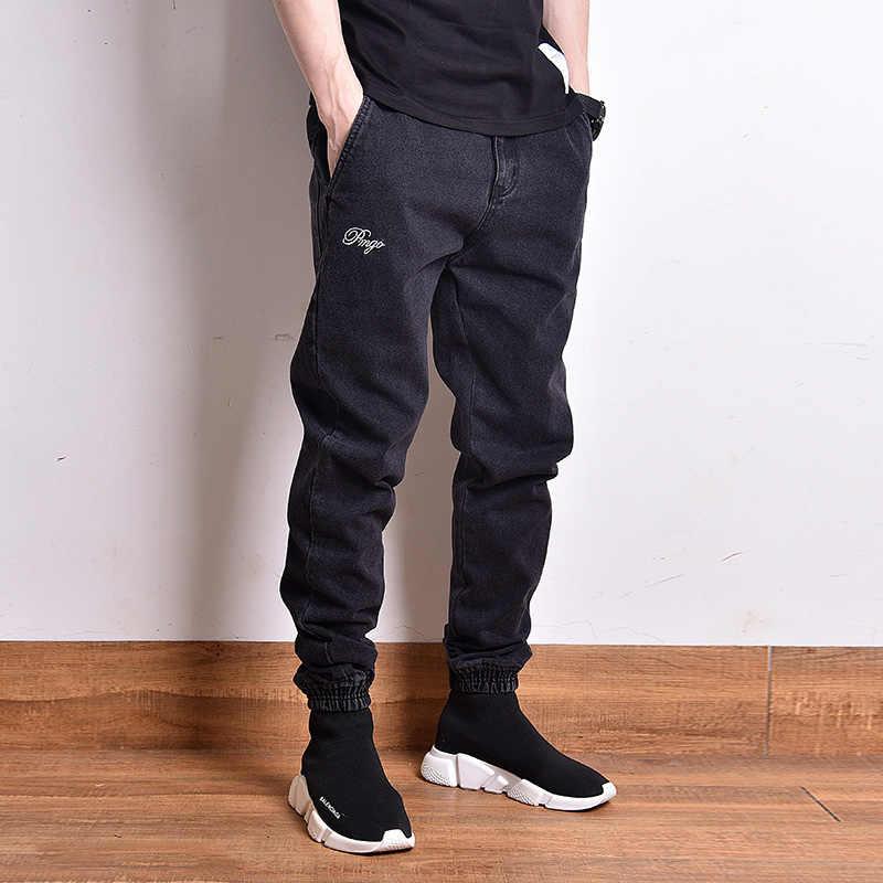 Fashion Streetwear Mannen Jeans Zwarte Kleur Vintage Designer Slack Bodem Cargo Broek Homme Japanse Stijl Hip Hop Jogger Jeans Mannen