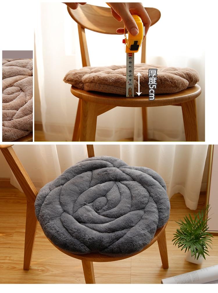 Роза круглый Push Home ковры Офисный Компьютерный стул Pad осень и зима татами подушки мягкие коврики кофе стол пол коврики