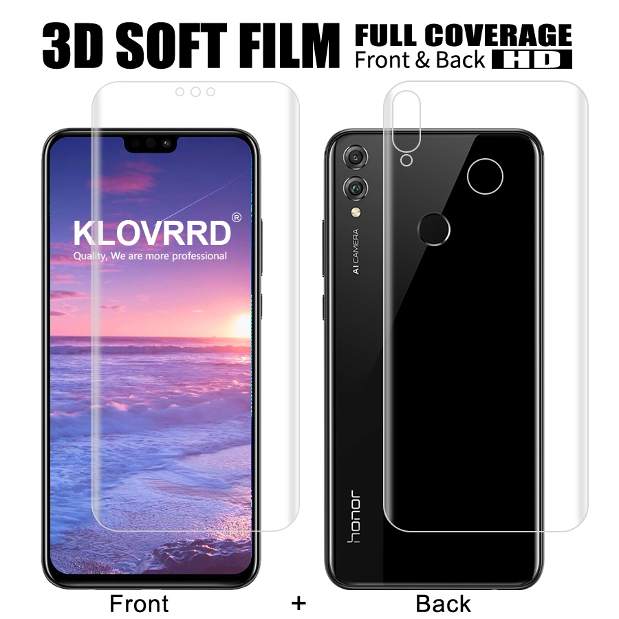 Front + Back Soft Film For Huawei Honor 8X Screen Full Cover Protector Silicone Hydrogel StickerFront + Back Soft Film For Huawei Honor 8X Screen Full Cover Protector Silicone Hydrogel Sticker