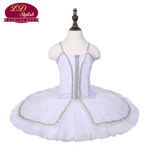 Girls White Professional Ballet Tutu Swan Lake  Performance Dancewear Kids Classical Dance Competition Costumes Adult