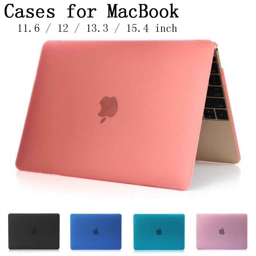 New Crystal/Matte shell case cover for Apple Macbook Air Pro Retina 11.6 12 13.3 15.4 inch laptop Cases For Mac book bag,SKU132A