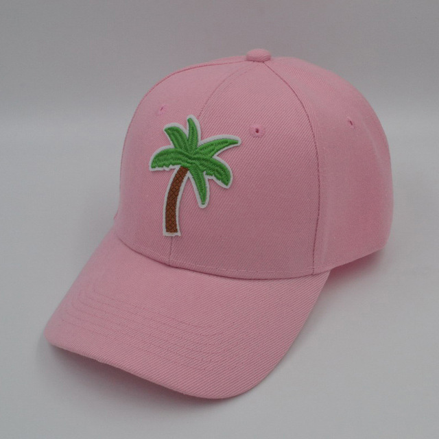 Fashion Lemon Juice Palm Tree Plain Baseball Cap Women s Summer Dad Hat  Black Pink e683e049cb
