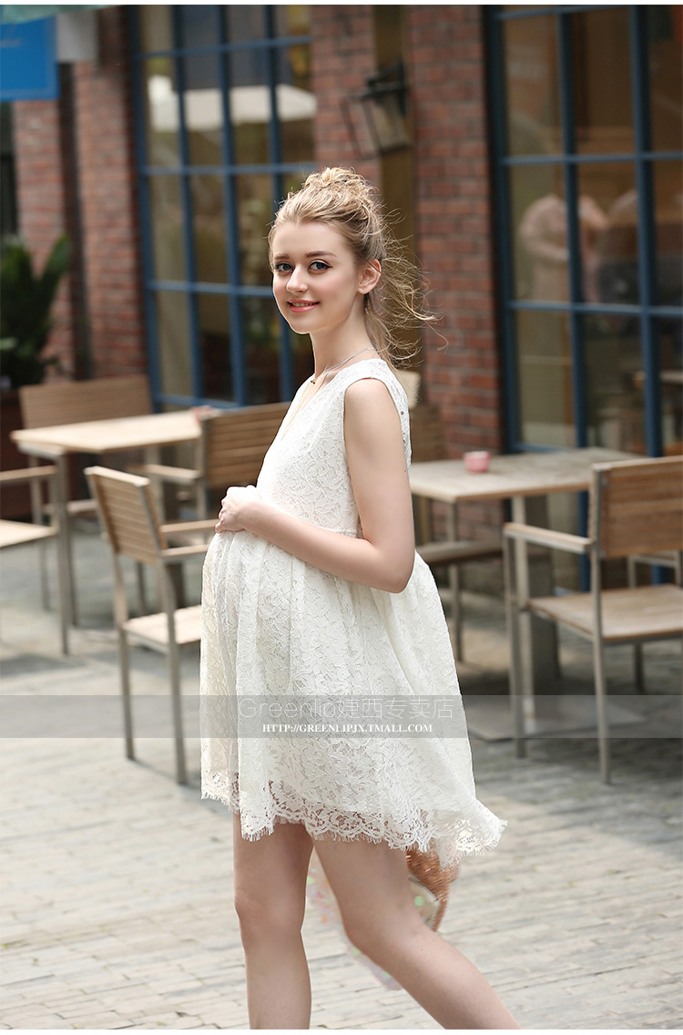 Hi bloom maternity clothes fashion summer new arrival lace white 2 3 4 5 ombrellifo Images