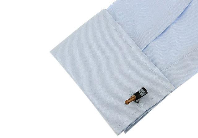 Igame Cufflinks Black Color Brass Material Novelty Bottle Design
