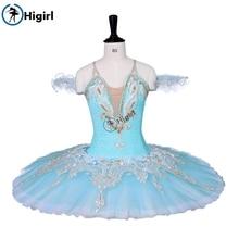 aprico Classical professional ballet tutus girl nutcracker tutu Blue Swan lake skirt orange stage dress
