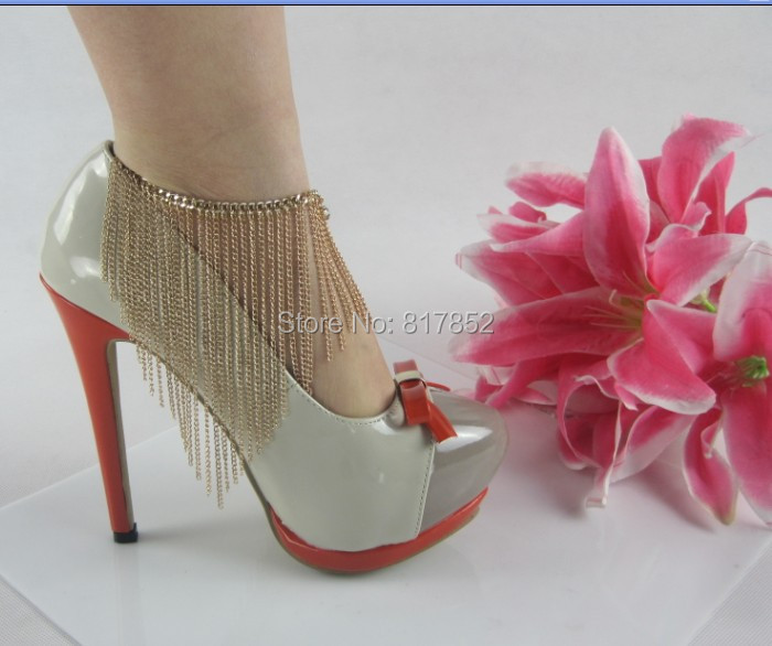 Free Shipping Style L08 Fashion Jewelry Shoe Chain Foot Chains Chains 2 Colours