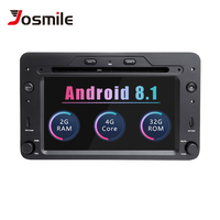 Josmile 2 din Android 8.1 GPS AutoRadio For Alfa Romeo 159 Brera Spider Sportwagon Navigation Stereo Car DVD Multimedia Wifi 4G