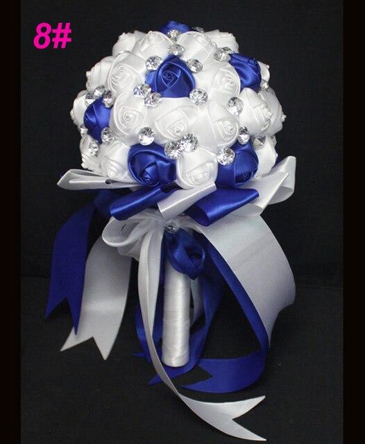 Искусственный Цветок Кристалл Свадебный Букет Моды Вырос Bruidsboeket Невеста Букет Цветов Рамо Де Novia Свадебные Свадебный Букет