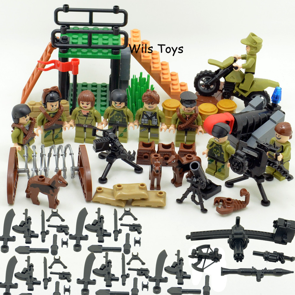 Chaser MILITARY Soldier SWAT WW2 Gun Weapon Army Special Forces Navy Seals Team DIY Building Blocks Figure Brick Set Toy Boys цена