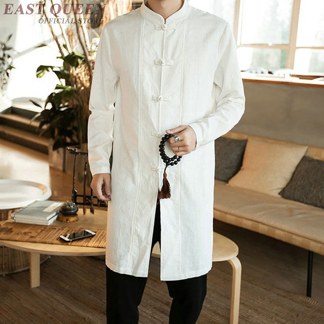 Traditional Chinese Clothing For Men Male Overcoat Outerwear