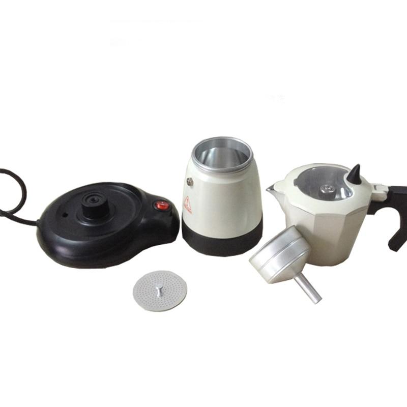 300ml Electric Coffee Maker Aluminum Moka Pot Mocha Coffee Maker Machine GHS99