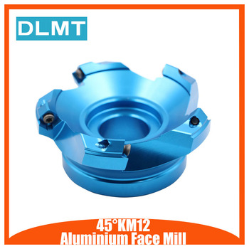 KM12 45 degree Angle 160mm 200mm Face Aluminium Plane Head End Mill Milling Cutter