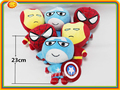 Movie Character Avengers Supper Heroes plush dolls toy 23cm Spider-Man/Captain America/Iron Man christmas Kids gift