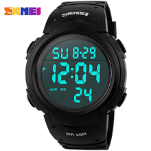 SKMEI Marca Hombres Mujeres Deportes Relojes Reloj Digital LED Reloj Militar A Prueba de agua Al Aire Libre Ocasional Del Relogio masculino
