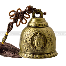 Feng shui Buddhism Copper Bell Religious Wind Bell Buddha Home Hanging Decoration Blessing for Luck Wind Chime Car Decor Crafts