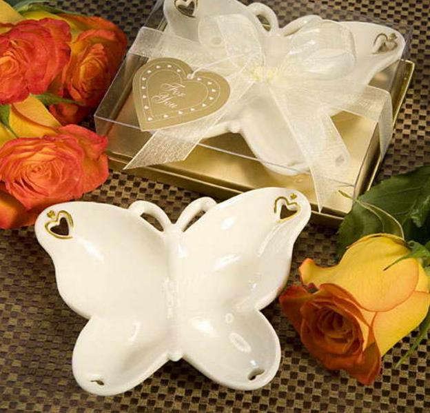 Bridal-Shower-Favor Wedding-Favors Candy-Dish Butterfly Remembrances-Collection The-Porcelain