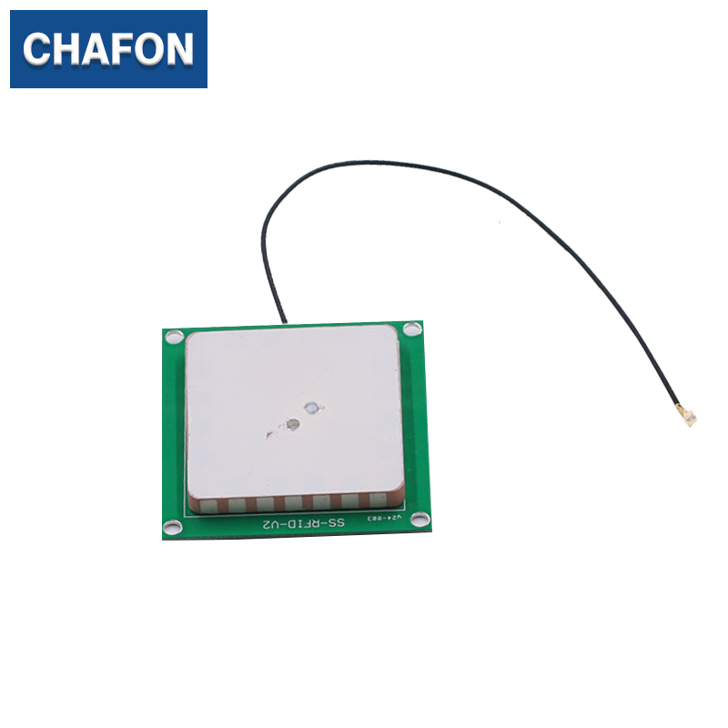 CHAFON uhf 40*40mm 3dBi ceramic antenna with male IPEX connector used for access control