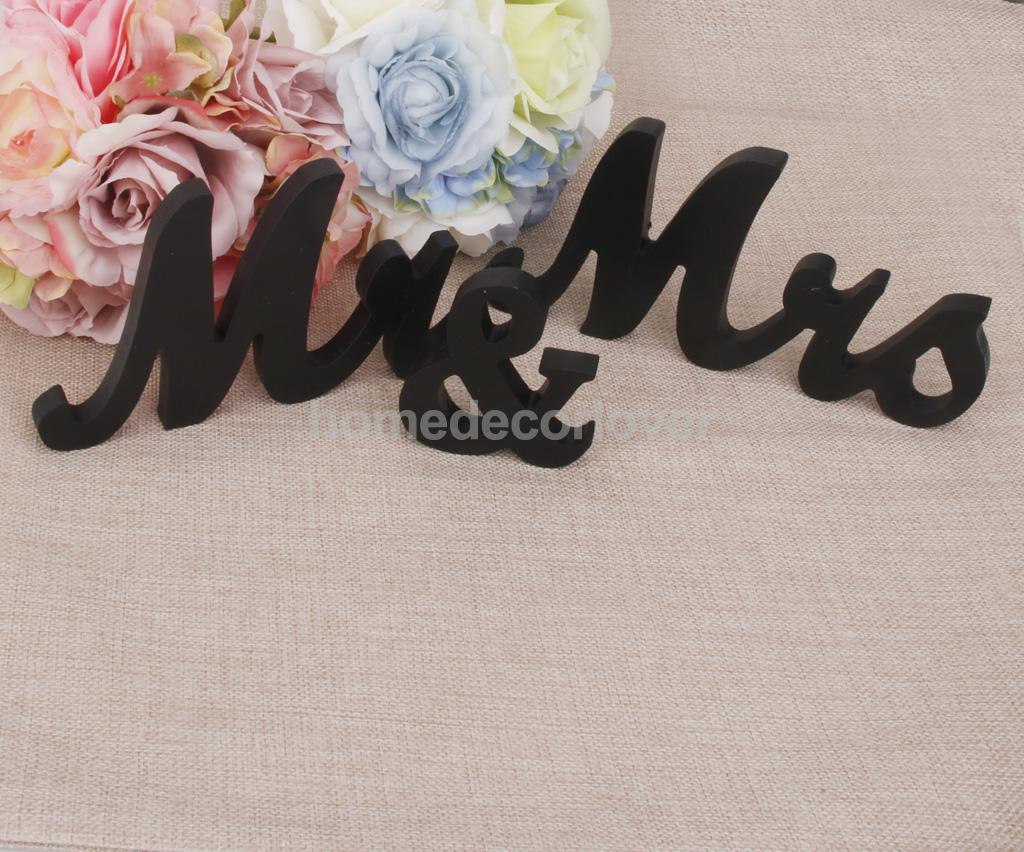 aliexpresscom buy mr mrs black wooden letters wedding standing sign decor table centerpiece from reliable table centerpiece suppliers on homedecorlover