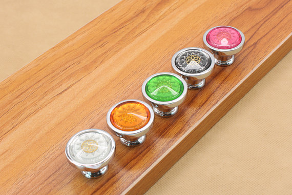 Colorful Glass Drawer Knobs Kitchen Cabinet Door Pulls Knobs Bright Silver Decorative Furniture Knobs Handle Hardware css clear crystal glass cabinet drawer door knobs handles 30mm
