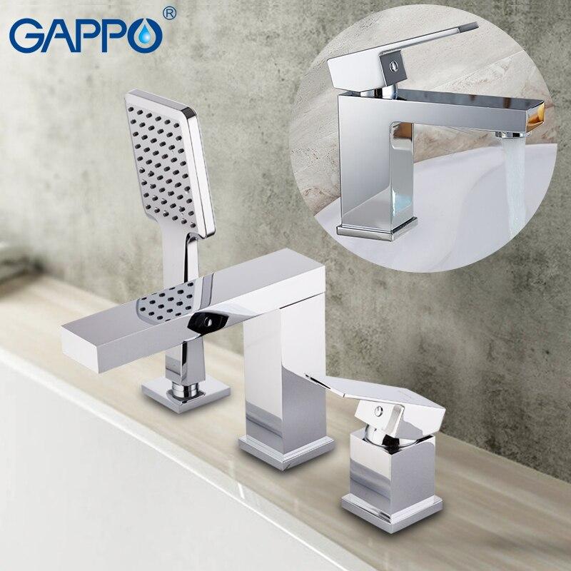 GAPPO bathtub Faucets brass waterfall faucet bath tub mixer deck mounted tub faucets bath tub mixer deck mounted tub faucet