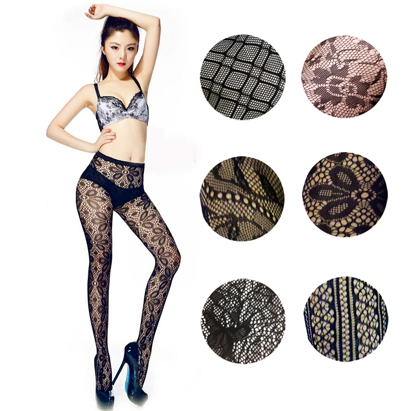 LIMSISNIW Tattoo Hollow Out Women Fishnet Black Tights Sexy Ladies Mesh Doddy Patterned Net Tight Slim Looking Hot Pantyhose