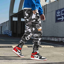Fashion Camouflage Pants Hip Hop Black Jogger Pants Mens Cargo Harem Pant Streetwear Harajuku Jogger Sweatpant Cotton Trouser цена 2017