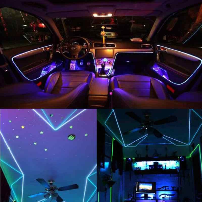 LED EL Draht Licht Flexible Weichen Schlauch Draht Neon Glow Auto Seil Streifen Licht Halloween Weihnachten DIY Decor Ananas Weihnachten baum