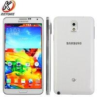 Original Samsung Galaxy Note 3 N900 Mobile Phone Quad Core 3GB RAM 32GB ROM 5.7 inch 3200mAh 13.0MP 3200mAh Android Smart Phone