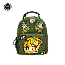 Фотография Woman Fashion Backpacks Hot Oxford Waterproof Travel Bags Sack Functional Bag female Ladies Clutches Floral Canvas Backpack New