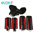 IKOKY Foot Handcuffs Bondage Sex Toys for Couple Fun Adult Games Nylon Erotic Toys Handcuffs Under Bed Restraint