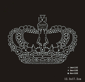 96f20620f0 2pc/lot Crown Rhinestones iron on crystal transfers design rhinestone
