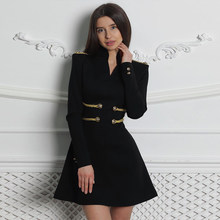 Seamyla New Spring Elegant Women Dress Long Sleeve Sexy Black Red Celebrity Evening Party Dresses Runway Club Dress Vestidos(China)