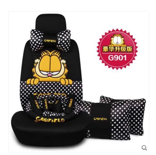 2016 de alimentación auto 5 unids/set cuatro temporada niñas coche cubierta de asiento del cordón femenino encantador de la historieta del asiento de coche cubre cojín de las mujeres estilo