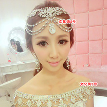 Cadena de novia de corea del cabeza de la borla de cristal de boda de la Princesa accesorios para el cabello puede hacer el collar de la boda tiara al por mayor