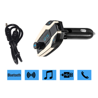 Car Mp3 Player Bluetooth FM Transmitter Modulator Car Styling USB Car Charger With Handsfree Call Function