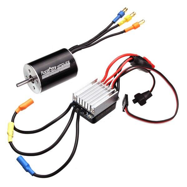 Racerstar 2838 Sensorless Waterproof Motor 3600/4500KV 35A ESC For 1/12 1/14 Cars 1:12 1:14 Parts new 2838 4500kv 4p sensorless brushless