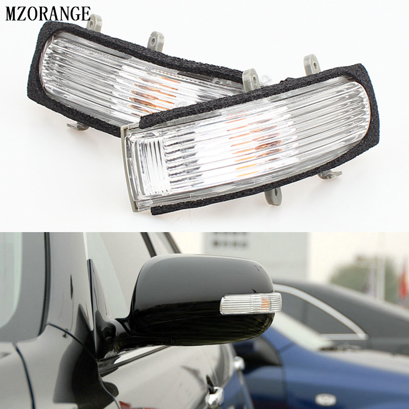 Mzorange заднего вида автомобиля боковое зеркало лампы указатели поворота для Toyota Camry 2006-2011 для Vios 2008-2012 индикатор вспышки света