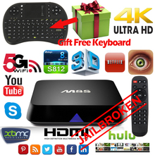 JAILBREAK M8S Android Smart TV Box Amlogic S812 Quad core 4 K 2G/8G wifi HDMI XBMC KODI Reproductor Multimedia Air Mouse Teclado TV caja