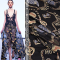 new 100% silk deep blue printed chiffon fabric pure natural Mulberry silk fabric