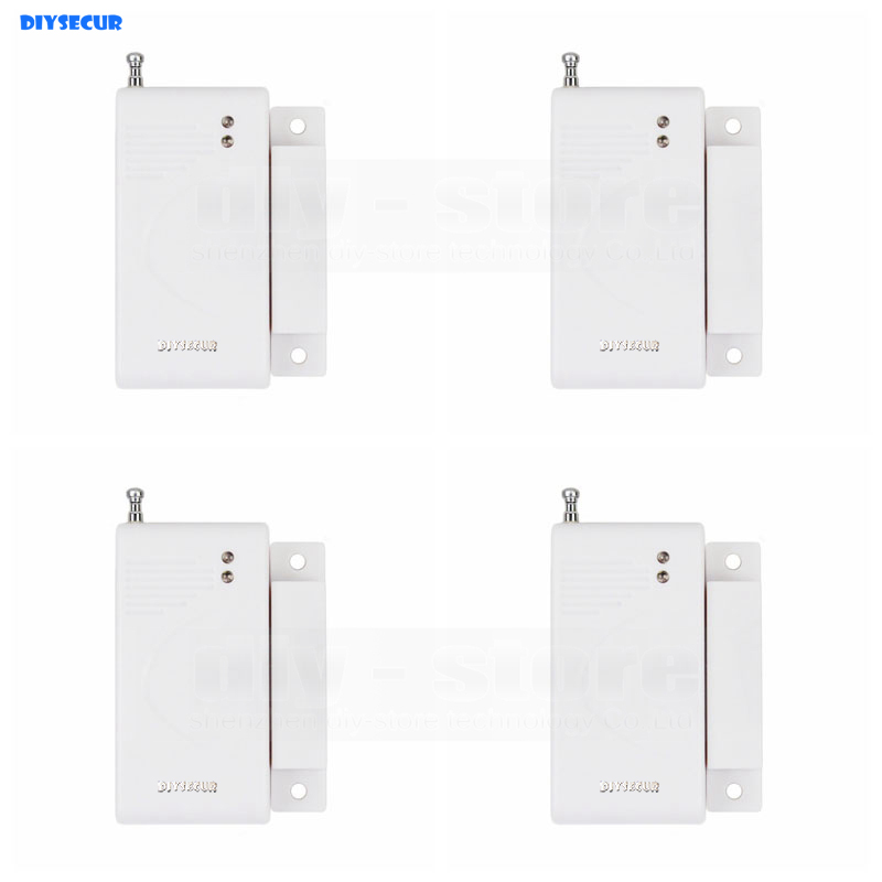 DIYSECUR 4pcs Wireless 433Mhz Door Magnetic Sensor for Our Related Home Alarm Home Security System Gap sensor smartyiba wireless door gap window sensor magnetic contact 433mhz door detector for home security alarm system