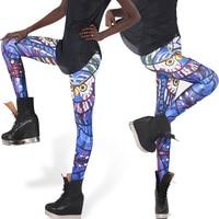 Hot Sale GLASS OWL LEGGINGS Milk Supe Rnova Sale Women Digital Printed Pants Free Shipping