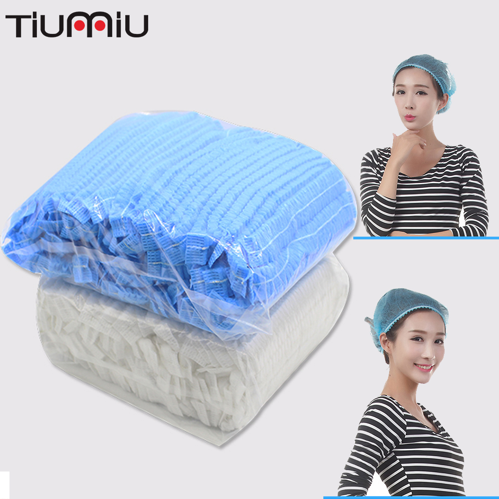 Disposable Bar Cap Work Hat Dustproof Disposable Non-woven Strip Cap Chef Hat Net Cap Labour Cosmetologist Medical Supplies