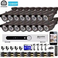 Эйедея 16 каналов удаленного доступа DVR 1080 P 5500tvl пуля напольный Ночное Видение видеонаблюдения Камера Товары теле- и видеонаблюдения Системы...