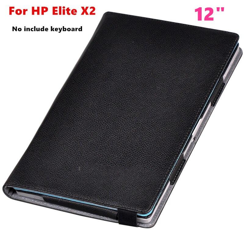 D'affaires Flip couverture Protecive shell Pour 12 HP Elite x2 1012 G1 Tablet Cas PU Housse En Cuir Peut mettre clavier