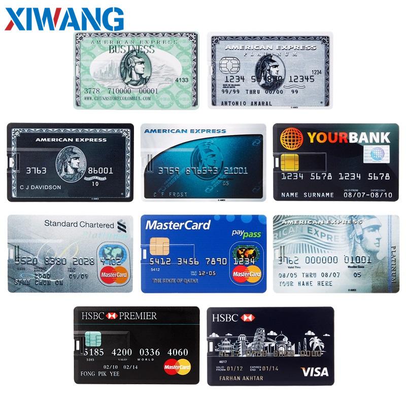 pendrive Bank Credit Card u disk new Waterproof Memory Stick drive 4GB 8GB 16GB 32GB 64GB 128GB USB Flash Drive free custom logo (2)