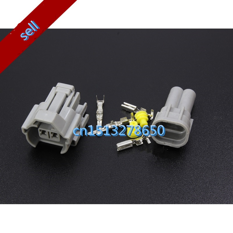 Nippon Denso 5 Set Fuel Injector Plug Waterproof Car 2 Pin Way Electrical Wire Connector Plug
