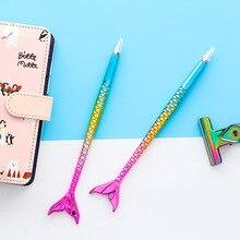 30 pcs/lot coloré sirène stylo à bille mignon bleu rouleau stylo à bille créatif papeterie cadeau bureau fournitures scolaires